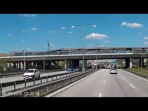 Cabview Goteborg Gothenburg, Sweden.  Drive through the city