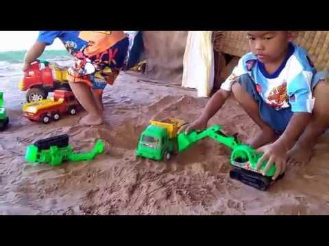 รถแม็คโคร รถดั้ม 6 ล้อ รถเทรลเลอร์ เล่นรถของเล่น Cars Toy