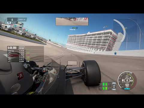Project CARS 2: 10 Laps Around Texas Motor Speedway; (Practice) (Formula X) (V12) (Wheel)