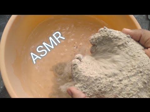 Concrete Mix Powder Pouring In Water 💦 With Paste Play 😍 Very Relaxing N Satisfying ASMR 😍 Enjoy