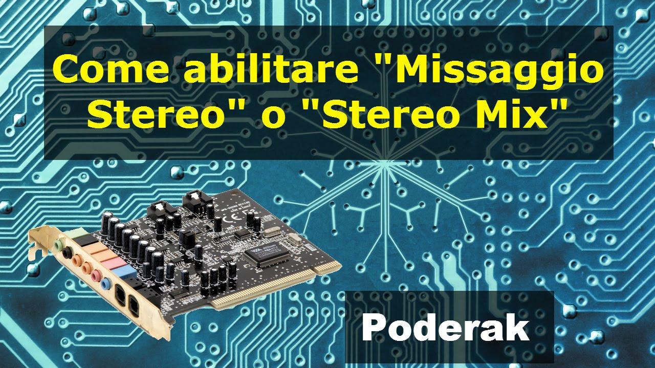 missaggio stereo