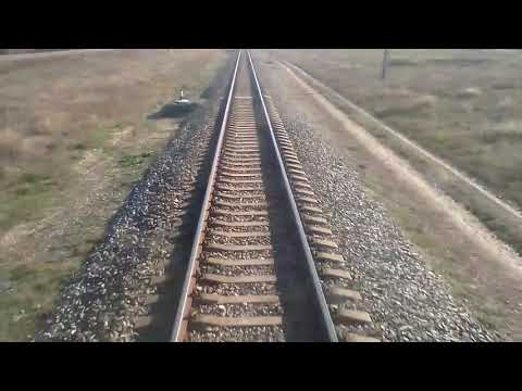Поезд сообщением Армянск-Феодосия осень(2016)