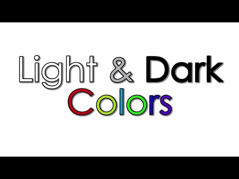 Learning Light and Dark Colors