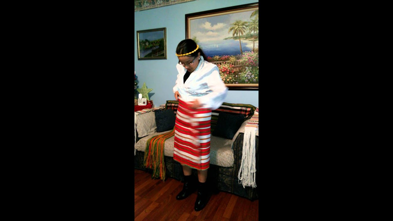 How to wear a gateng or tapis an Igorot traditional