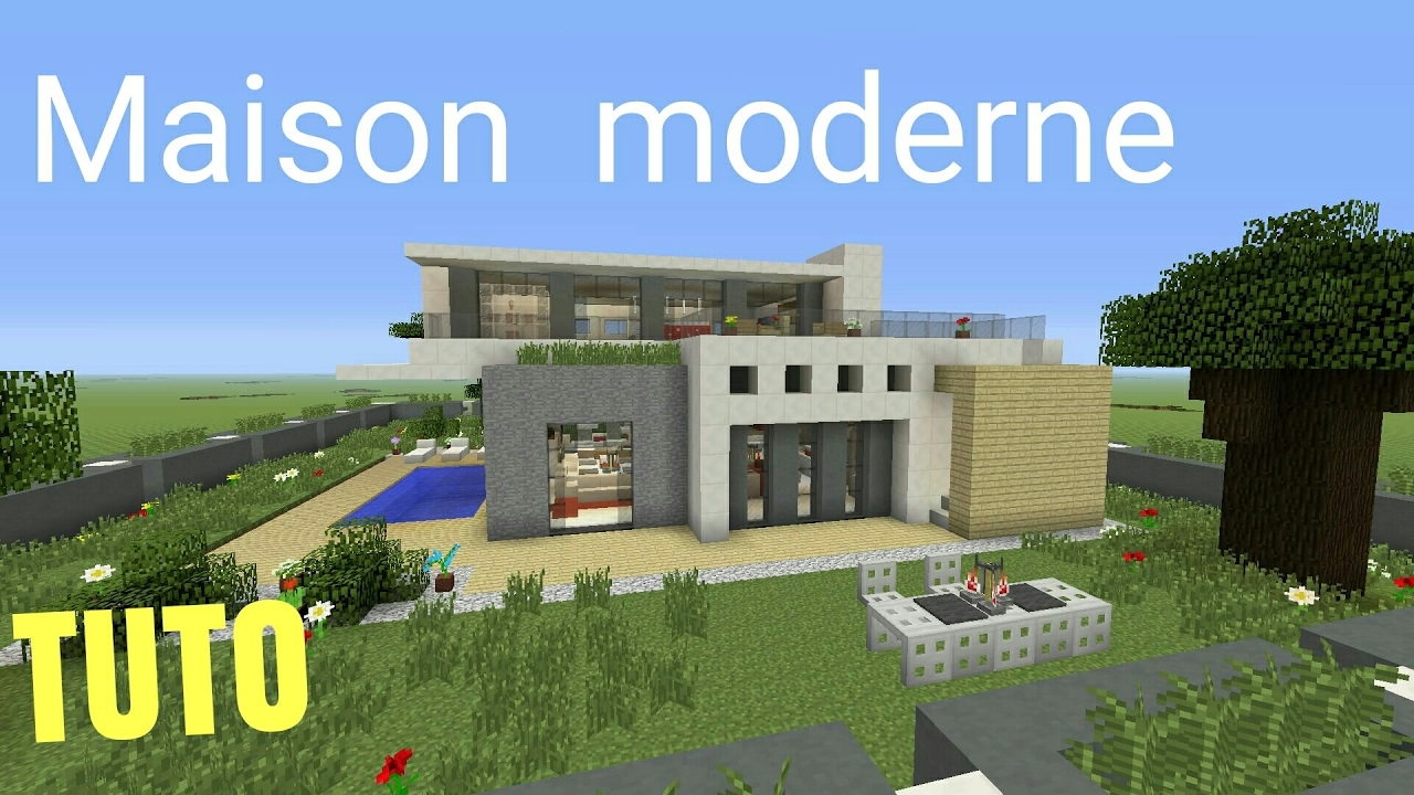 TUTO Minecraft Maison Moderne #3 PS4 (PS3/XBOX360/XBOXONE/PSVITA ...