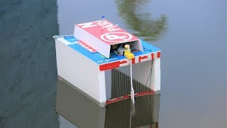 How to make a water cleaning boat