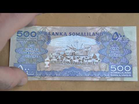 Foreign Currency Bank Note 500 Somaliland Shillings