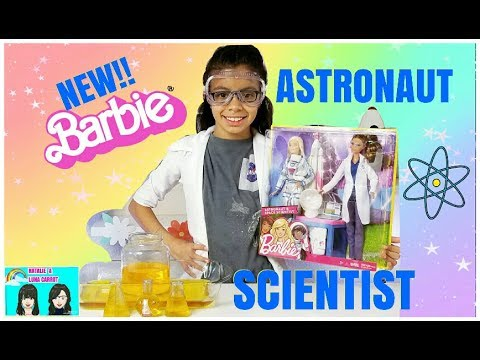 NEW!!ASTRONAUT BARBIE & SPACE SCIENTIST BARBIE +BARBIE ASTRONAUT DOLL +HOW TO MAKE A VOLCANO ERUPT.
