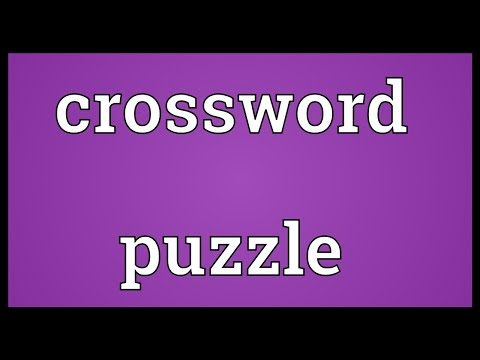 Crossword puzzle Meaning