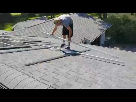 INSTALLING SOLAR PANELS ON THE PARTIAL OFF-GRID SOLAR SYSTEM Pt.2