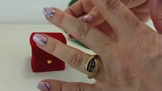 Золотое кольцо с сапфиром и бриллиантами. НА РУКЕ.(, 2017-11-15T09:30:34.000Z)