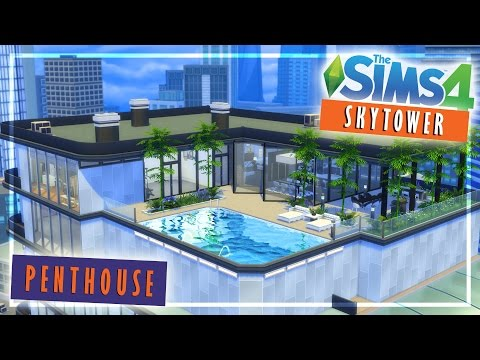 Skytower Luxury Penthouse : The Sims 4 Speed Build / Furnish