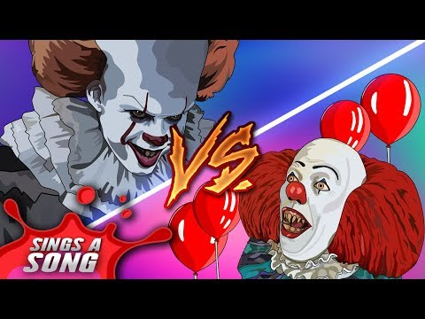 Mix - Old Pennywise Vs New Pennywise Rap Battle ('IT' Parody Tim Curry Vs Bill Skarsgard)