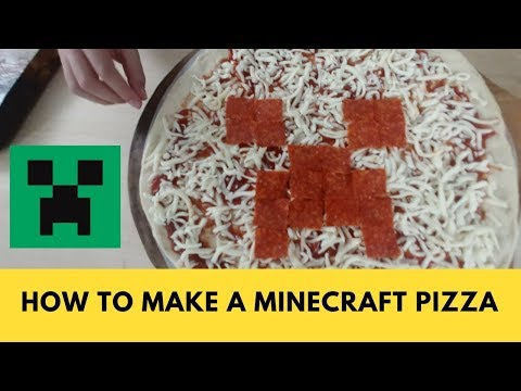 Print out minecraft pizza making a minecraft creeper pizza publicscrutiny Choice Image