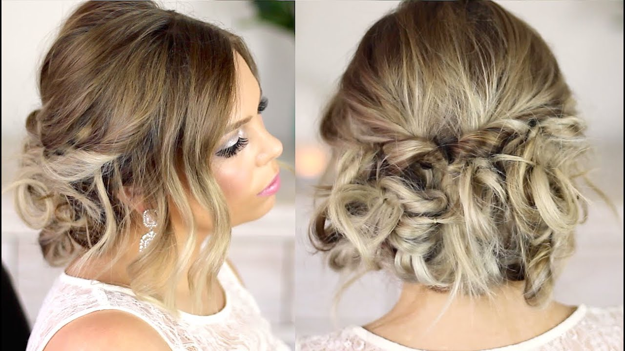 easy formal hair messy style