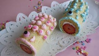 Koinobori Roll cake Recipe 卵1個で鯉のぼりロールケーキ こどもの日 thumbnail