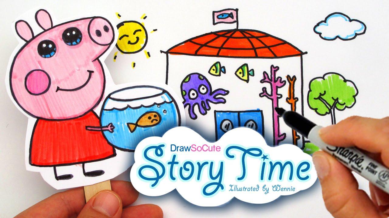 ★new★ Storytime Peppa Pig Quot The Aquarium Quot Illustrated