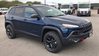 2018 JEEP CHEROKEE TRAILHAWK L PLUS NEW PATRIOT BLUE COLOR 4X4 WISCONSIN $40,730 www.SUMMITAUTO.com