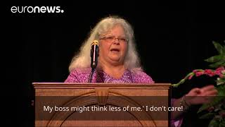 Heather Heyer's mother delivers emotive speech at Charlottesville memorial