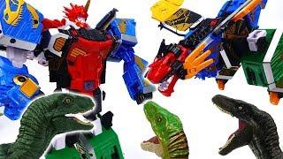 Geo-Mecha 5 Integration Captain Dino~! Dinosaurs In Tayo Town - ToyMart TV