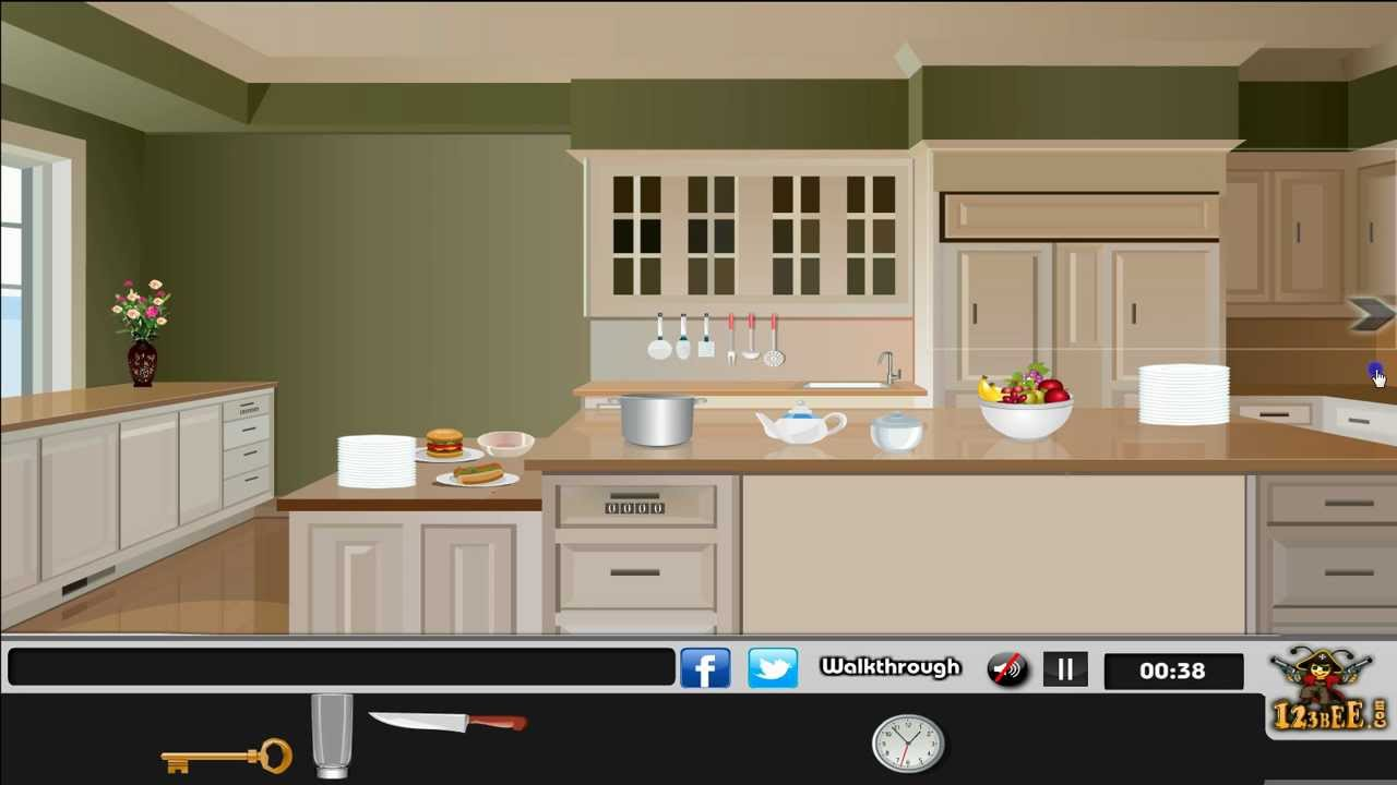 fascinating The Great Kitchen Escape Walkthrough Part - 7: Modern Kitchen Escape Walkthrough