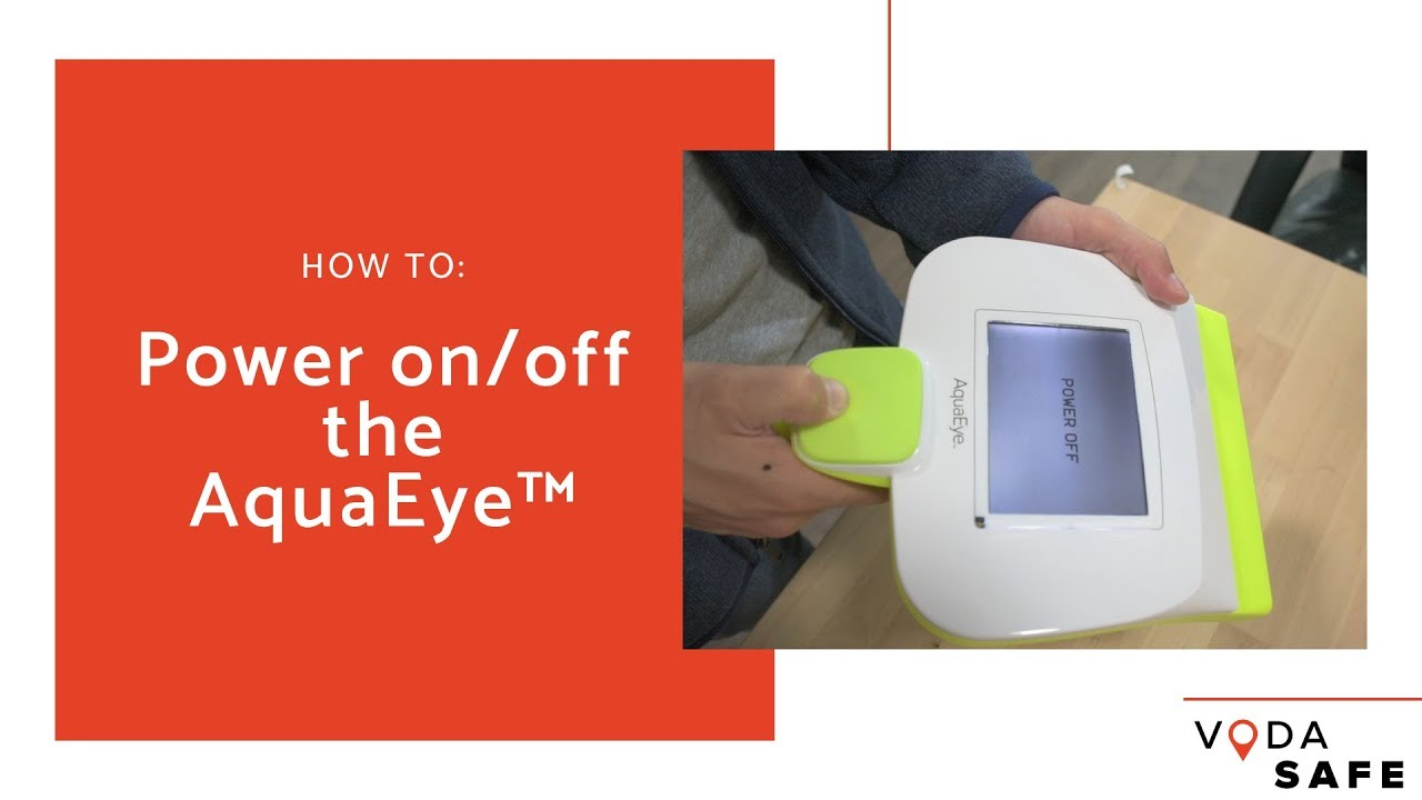 How to power on/off the AquaEye