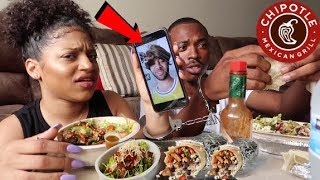CHIPOTLE MUKBANG HANDCUFFED! | HOW MCQUEEN REALLY FEELS ABOUT US BEING FRIENDS..