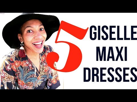Sewing Project SHOWCASE: 5xKate & Rose GISELLE MAXI DRESSES