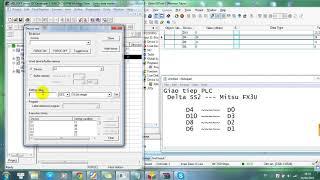 Giao tiếp PLC delta  SS2 - Mitsubishi Fx3U