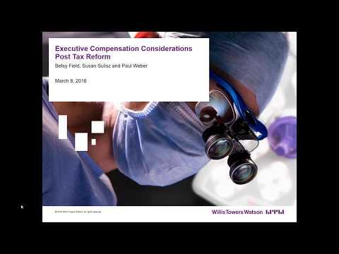 Executive Compensation Considerations Post Tax Reform