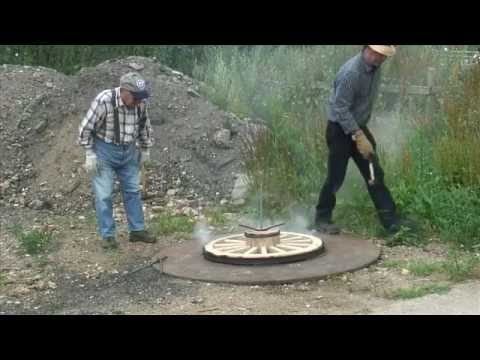Making A Wooden Carriage Wheel Pt3 Youtube