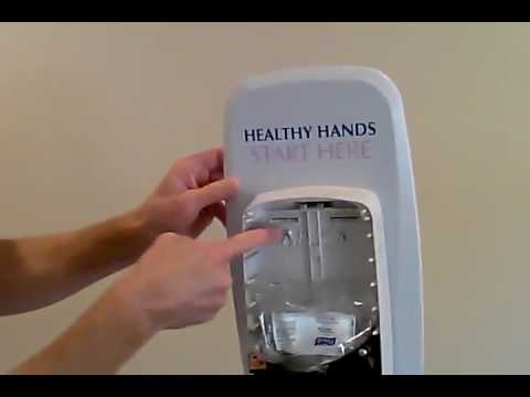 How To Change The Sanitizer In A Purell Tfx Hand Dispenser Bunzl