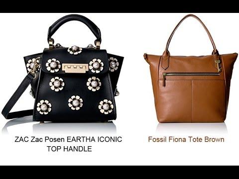 e37821ae2 ZAC Zac Posen EARTHA ICONIC TOP HANDLE and Fossil Fiona Tote Brown ...