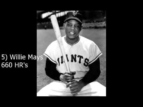 top 10 all time home run leaders   youtube