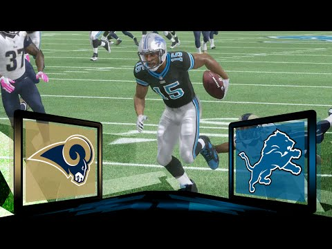 Madden NFL 17 Detroit Lions Franchise- Year 1 Game 6 vs Los Angeles Rams