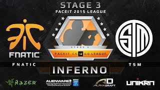 Fnatic vs TSM - Inferno (FACEIT League Stage 3 EU)(Play on FACEIT for free: http://www.faceit.com FACEIT on Twitter: http://www.twitter.com/faceit FACEIT on Facebook: https://www.facebook.com/FaceitCommunity ..., 2015-09-17T06:59:04.000Z)