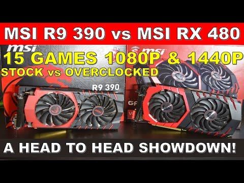 MSI RX 480 vs MSI R9 390 A Head to Head Showdown