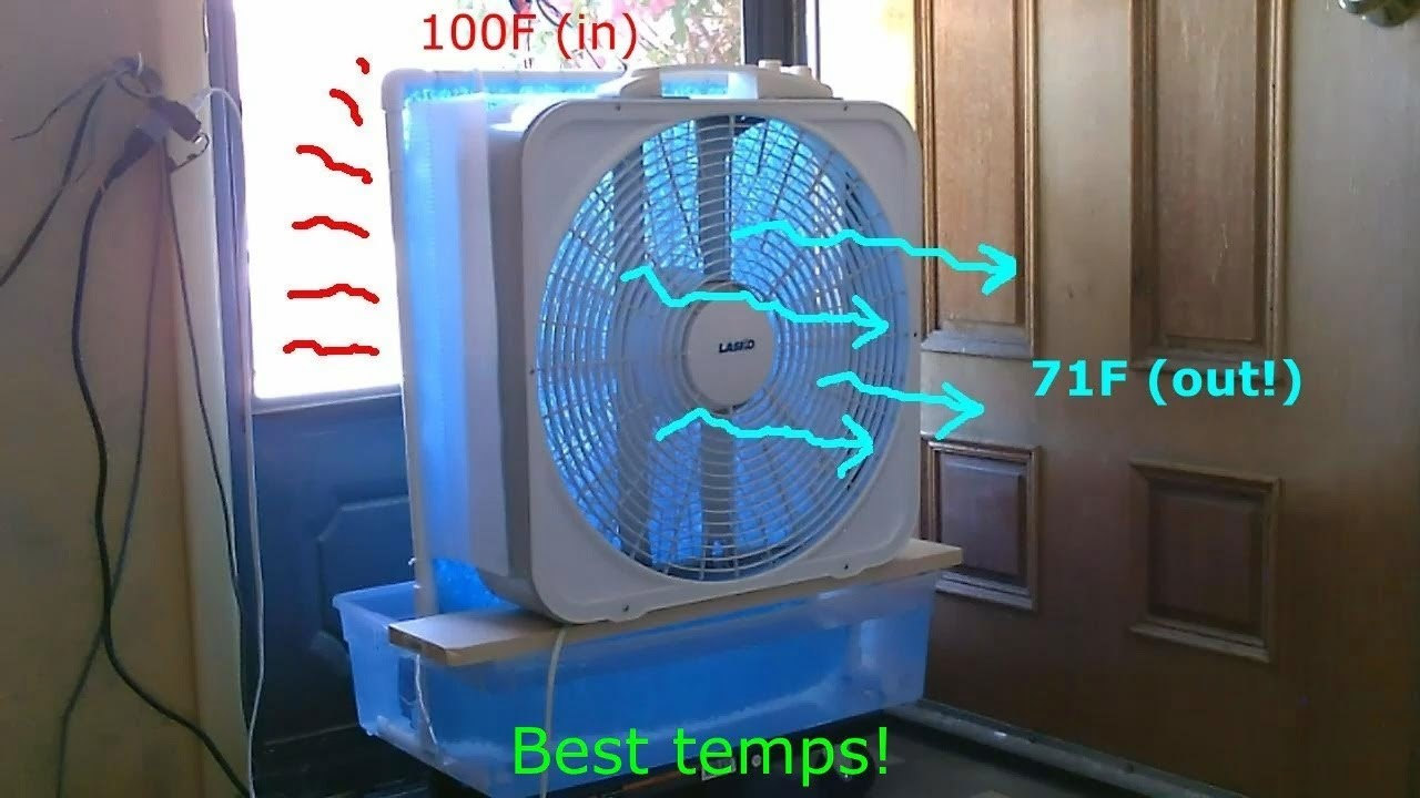 Diy Evap Air Cooler Jumbo Sized Final Version Max Cooling Large Area Evap Ez Diy