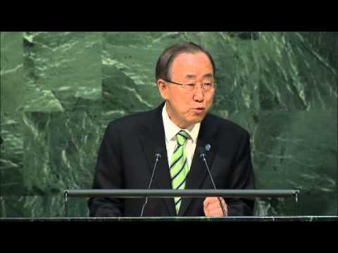 Ban Ki-moon, High-level Signature Ceremony for the Paris Agreement, Opening session