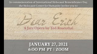 """Dear Erich"": A jazz opera in commemoration of International Holocaust Remembrance Day"