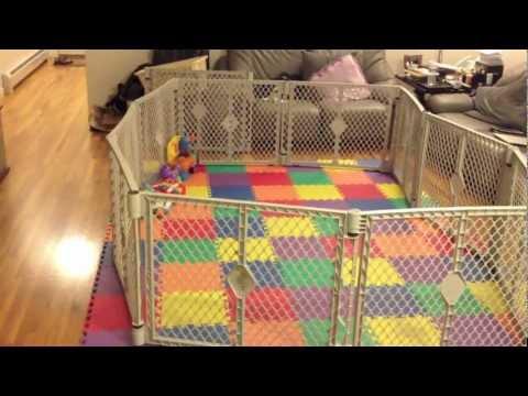 Fatherhood - Baby gets a playpen