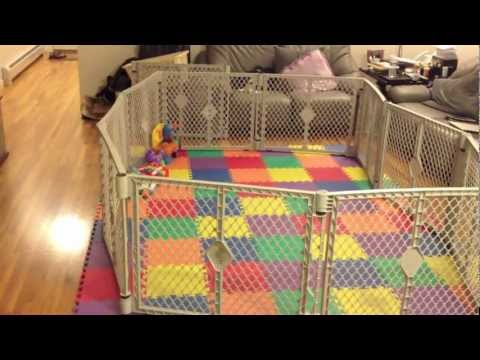 Fatherhood - Baby gets a playpen