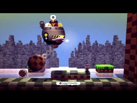 Little Big Planet - Sonic The Sackhog: Green Hill Zone Act 2 - Online (2)
