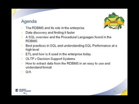Relational Databases for the Business Analyst  Webinar
