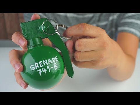How To Make PUBG Grenade From Cardboard | DIY By King OF Crafts