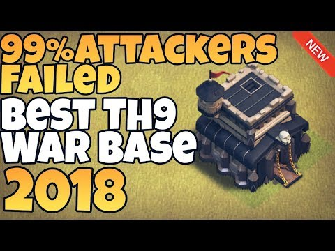 *EPIC* New Town Hall 9 (TH9) War Base 2018 | Best TH9 War Base | Clash of Clans
