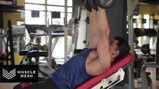 MUSCLEMESH Egzersizleri Incline Dumbell Chest Press - Göğüs