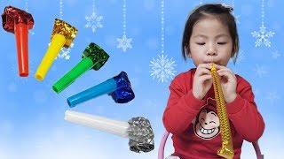 재밌는 코끼리 나팔이 있어요!! 서은이의 색깔 코끼리 나팔 핑거 패밀리송 Learn colors Elephant Bugle Finger Song