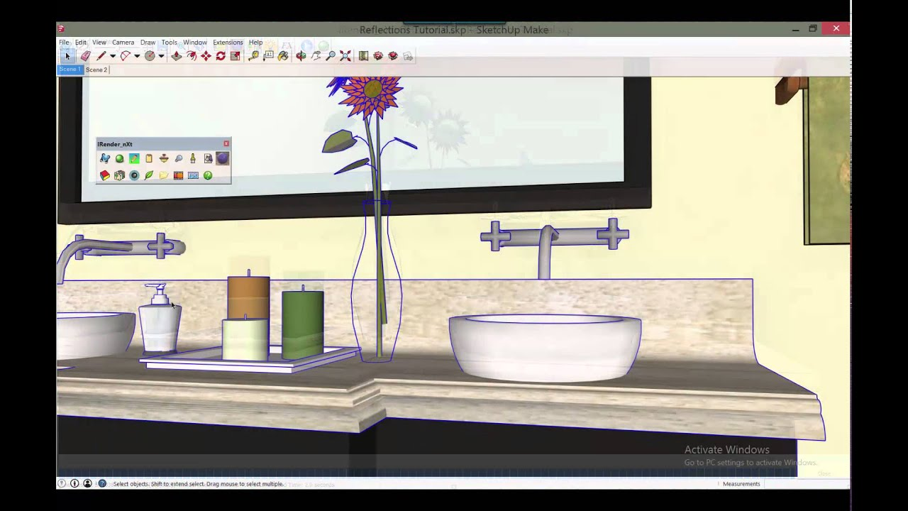 SketchUp Rendering Tip - How to Render Colored Glass