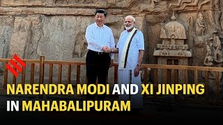 PM Modi welcomes Xi Jingping to India, plays perfect host
